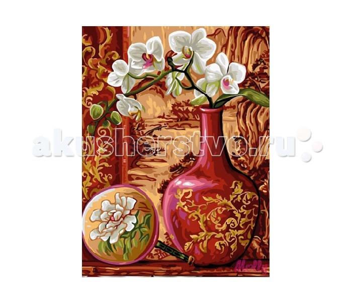 Molly Картина по номерам Ветка орхидеи в вазеКартина по номерам Ветка орхидеи в вазеMolly Картина по номерам Ветка орхидеи в вазе EX5254  Картина по номерам – очень увлекательное хобби для тех, кто хочет окунуться в мир прекрасного и уйти от стрессов и разукрасить свой мир и своих домочадцев разными красками. Такая картина, расписанная своими руками, послужит не только отличным подарком, но и уникальным предметом украшения интерьера, так как в нее вложена любовь и старание. Изображение цветов не только радует глаз, но и по учению фен-шуй улучшает атмосферу в доме, привнося в нее любовь и умиротворение. Для создания собственного шедевра достаточно желания, немного фантазии и следования советам по рисованию, которые есть на обороте упаковки.  Набор для раскрашивания: - холст, натянутый на подрамник с нанесенным рисунком - контрольный лист - акриловые краски в баночках (смешивать не нужно) - три кисти, различного размера - крепеж для подвешивания  Размер: 30х40 см.<br>