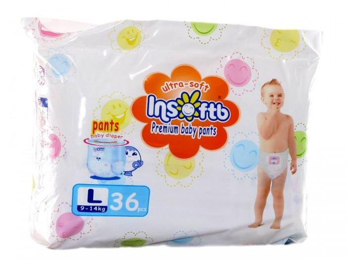 Insoftb Трусики-подгузники Premium Ultra-soft L (9-14 кг) 36 шт.
