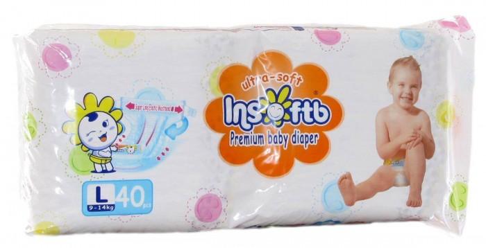 Insoftb Подгузники Premium Ultra-soft L (9-14 кг) 40 шт.