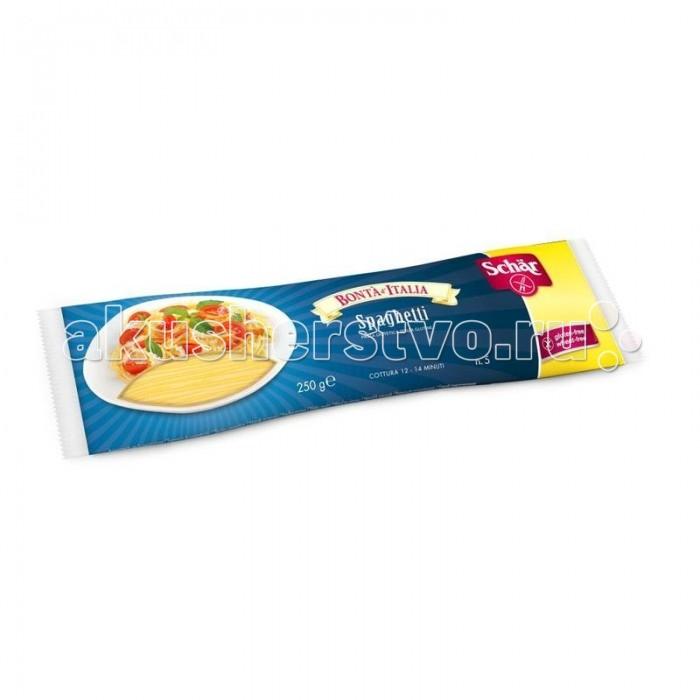 Schar Спагетти Spaghetti без глютена 250 гСпагетти Spaghetti без глютена 250 гСпагетти Sch&#228;r Spaghetti без глютена рекомендуются для профилактики и лечения пищевой аллергии, а также для больных целиакией (непереносимость растительного белка глютена, который содержится в злаковых растениях, таких как пшеница, рожь, овес, ячмень). Спагетти не содержат глютена, пшеничного крахмала, лактозы, молока, яиц и консервантов. Идеальны для тех, кто контролирует свой вес. Имеют полноценный сбалансированный состав.  Состав: кукурузная мука, рисовая мука, эмульгатор: моно- и диглицериды жирных кислот.  Не содержат глютена, пшеничного крахмала, лактозы. Высокое содержание волокон. При производстве используется экологически чистое сырьё. Без ГМО. Не содержит куриное яйцо, молоко, сою. Имеют натуральный вкус. Энергетическая ценность на 100 г: 363 кКал. Пищевая ценность на 100 г: углеводы - 78 г (из которых сахара - 4.4 г), белки - 8.3 г, жиры - 1.5 г (из которых насыщенные - 0.4 г), натрий - 0.28 г.  Итальянская компания Sch&#228;r - лидер европейского рынка по выпуску безглютеновых продуктов. Благодаря интенсивным научным исследованиям весь ассортимент имеет высокий уровень качества и разнообразен. Главная задача компании Sch&#228;r состоит в непрерывном развитии производства безглютеновых продуктов для повседневного питания больных целиакией. Свою компетентность фирма укрепляет путем сотрудничества с важными научно-исследовательскими институтами и университетами, а также за счет прямого диалога с целевой группой. Продукты произведены с соблюдением строжайших технологических требований и экологических стандартов Европейского союза и международных сертифицирующих организаций.<br>