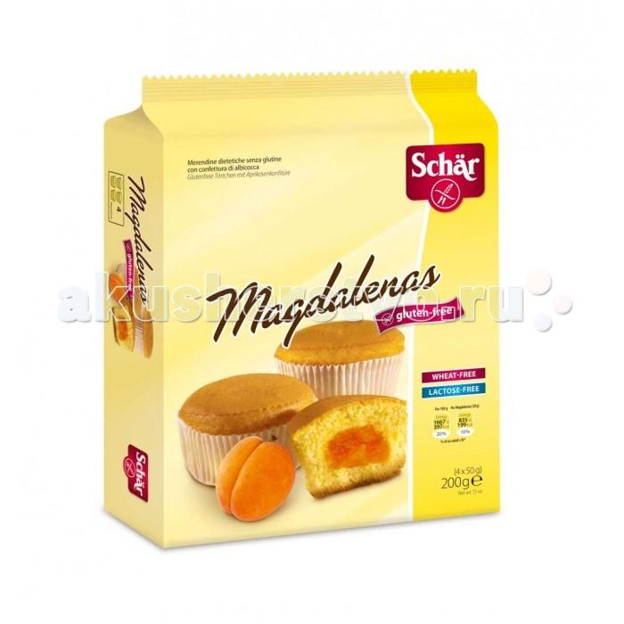 Schar Кексы с абрикосовым джемом Magdalenas без глютена 50 г 4 шт.