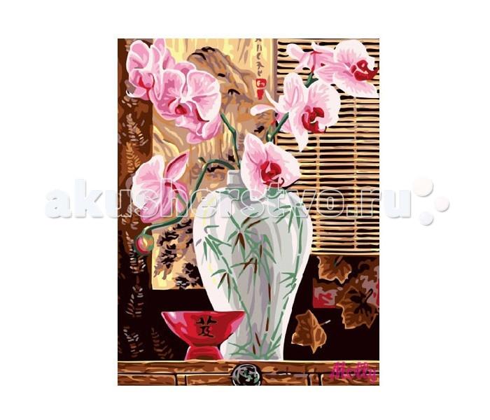 Molly Картина по номерам Розовый букетКартина по номерам Розовый букетMolly Картина по номерам Розовый букет EX5260  Картина по номерам – очень увлекательное хобби для тех, кто хочет окунуться в мир прекрасного и уйти от стрессов и разукрасить свой мир и своих домочадцев разными красками. Такая картина, расписанная своими руками, послужит не только отличным подарком, но и уникальным предметом украшения интерьера, так как в нее вложена любовь и старание. Изображение цветов не только радует глаз, но и по учению фен-шуй улучшает атмосферу в доме, привнося в нее любовь и умиротворение. Для создания собственного шедевра достаточно желания, немного фантазии и следования советам по рисованию, которые есть на обороте упаковки.  Набор для раскрашивания: - холст, натянутый на подрамник с нанесенным рисунком - контрольный лист - акриловые краски в баночках (смешивать не нужно) - три кисти, различного размера - крепеж для подвешивания  Размер: 30х40 см.<br>