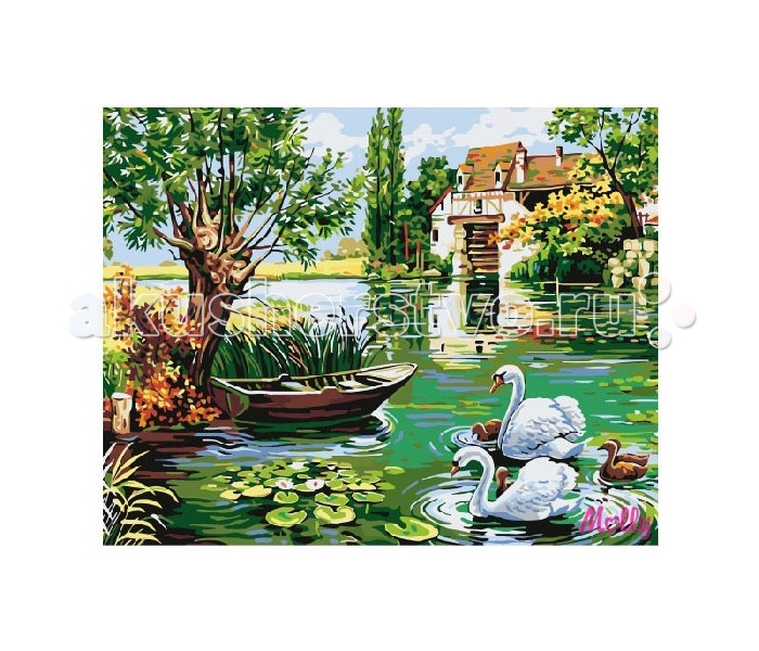 Molly Картина по номерам Деревнский пруд