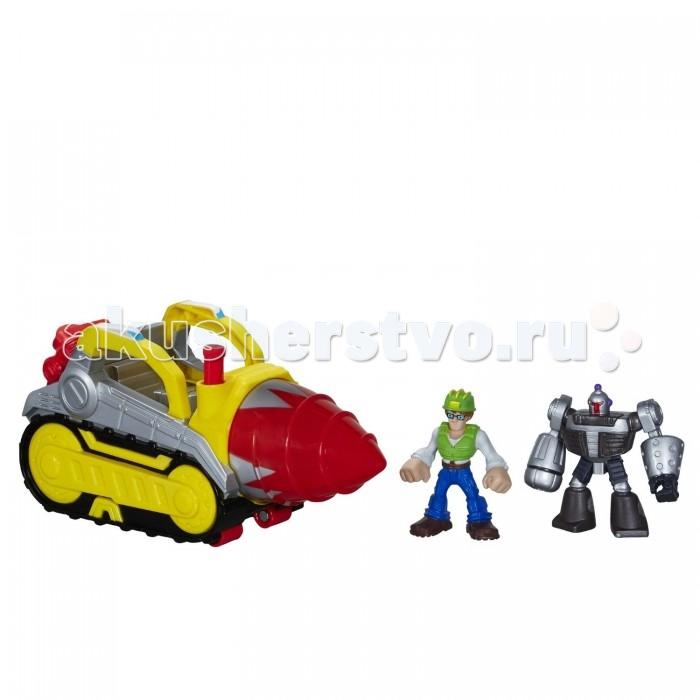 Transformers Игровой набор Rescue Bots БурИгровой набор Rescue Bots БурHasbro Игровой набор Трансформеры Rescue Bots Бур.  Оригинальные трансформеры Playskool Heroes непременно порадуют юного любителя техники. В набор входит фигурки инженера и трансформера МорБота, а также яркая буровая машина с водительским местом. Игрушки изготовлены из цельнолитого полимера, безопасного для здоровья малыша.   Используя фигурки из набора, малыш сможет повторить сцены из мультсериала Трансформеры: Боты-спасатели или придумать свои сюжеты или истории. Игра с трансформерами поспособствует развитию логического и образного мышления ребенка, а также его цветовосприятия и мелкой моторики рук.<br>
