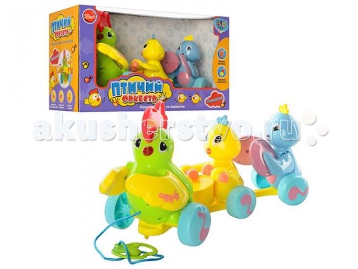 Каталка-игрушка Shantou Gepai Курочка с цыплятами на веревочкеКурочка с цыплятами на веревочкеКаталка-игрушка Shantou Gepai Курочка с цыплятами на веревочке. Для малышей, начинающих ходить, каталка-незаменимый помощник в этом нелегком деле.  Как только малыш поймет, что каталка едет за ним, ему захочется двигаться больше и больше.   Развивает наглядно-действенное мышление, координацию движения, стимулирует двигательную активность.<br>