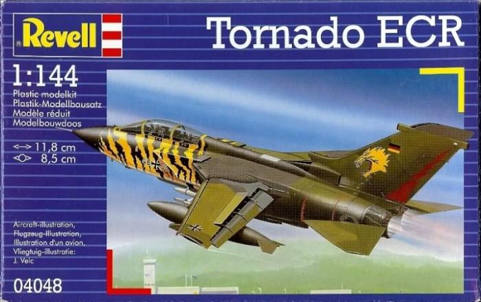 Конструктор Revell Истребитель Tornado ECR (1/144)Истребитель Tornado ECR (1/144)Сборная модель немецкого истребителя-бомбардировщика Tornado IDS. Принятый на вооружение в 1980 году самолет до сих пор состоит на вооружении ВВС европейских стран. Является одним из основных самолетов НАТО. Активно применялся во время войн в Ираке и Югославии. За годы производства было построено 992 экземпляра.  Внимание! Клей и краски в комплект не входят.  Основные характеристики:   Размер упаковки: 20 х 13 х 3 см Длина модели: 11.8 см Размах крыльев: 8.5 см Масштаб: 1:144. Количество деталей: 63 шт.<br>