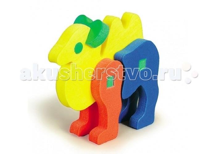 Конструктор Бомик Объемный Верблюд 8 элементовОбъемный Верблюд 8 элементовБомик Объемный конструктор Верблюд 8 элементов 308  Мягкий конструктор Верблюд изготовлен из высококачественного полимера и безопасен для ребенка. Собирая игрушку, которая состоит из восьми ярких деталей разной формы, ребенок научится различать формы и цвета. Игрушка-конструктор Верблюд помогает развить логическое мышление, фантазию и мелкую моторику малыша.<br>