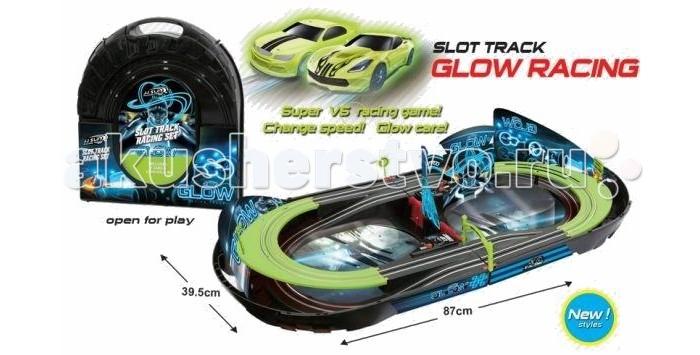 Shantou Gepai Автотрек Glow Racing (2 светящиеся машинки)