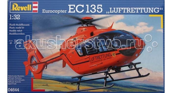 Конструктор Revell Вертолет EC 135 T2i LuftrettungВертолет EC 135 T2i LuftrettungМодель вертолета EC 135 T2i Luftrettung от фирмы Revell является уменьшенной копией одноименного немецкого вертолета. Впервые произведен в 2002 году в Германии. Модель станет отличным украшением комнаты и дополнением Вашей коллекции.  Внимание! Клей и краски в комплект не входят.  Основные характеристики:   Длина модели: 324 мм  Диаметр винта: 316 мм Масштаб: 1:32  Количество деталей: 203 шт.<br>