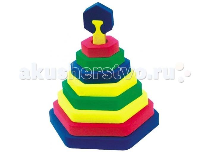 Развивающая игрушка Бомик Пирамида ШестиугольникПирамида ШестиугольникБомик Пирамида Шестиугольник 322  Пазл представляет собой игру-головоломку, в которой необходимо составить картинку из большого количества фрагментов. Сборка такой мозаики не потеряла свою популярность благодаря разнообразию её видов и изображений. Пирамида объемная Шестиугольник поможет с пользой провести досуг, а также поспособствует развитию цветового восприятия, логического мышления и мелкой моторики.<br>