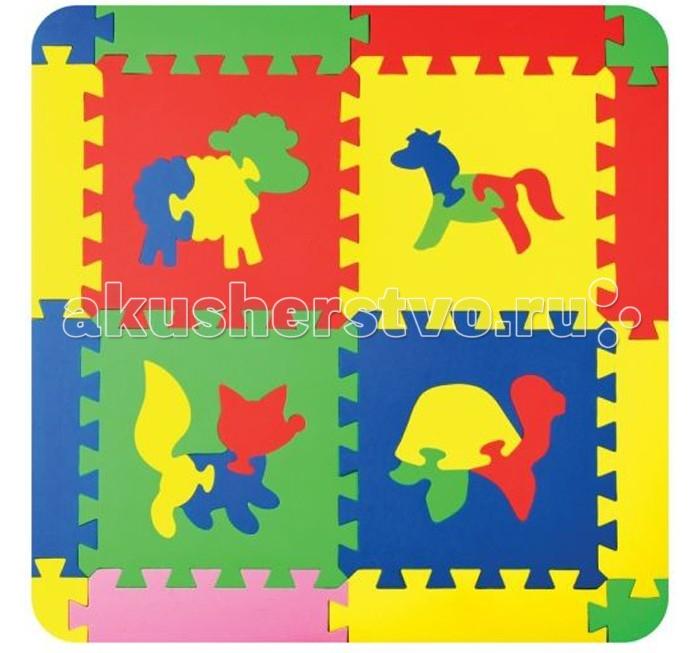 Игровой коврик Бомик Силуэты животные 28х28 см 4 шт.