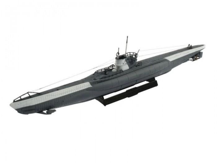 Конструктор Revell Подводная лодка U-Boot Typ VIIC; 1:350Подводная лодка U-Boot Typ VIIC; 1:350Модель немецкой подводной лодки типа VII-C. Подводные лодки класса VII использовались Германией на протяжении всей Второй Мировой войны. Это был наиболее массовый тип подлодок. Всего с 1939 по 1945 годы было выпущено 703 подводных лодок. Тип VIIC был немного модифицированной версией успешного типа VIIB. Он имел очень похожие двигатели и мощность, но был больше и тяжелее что делало его менее скоростным чем тип VIIB. По одной из версий на подлодке Ю-977, которая относилась к типу VII-C, после капитуляции Германии в Аргентину уплыл Адольф Гитлер.  Внимание! Клей и краски в комплект не входят.  Основные характеристики:   Размер упаковки: 25 х 13 х 3,5 см Длина модели: 19,2 см Масштаб: 1:350 Количество деталей: 29 шт.<br>