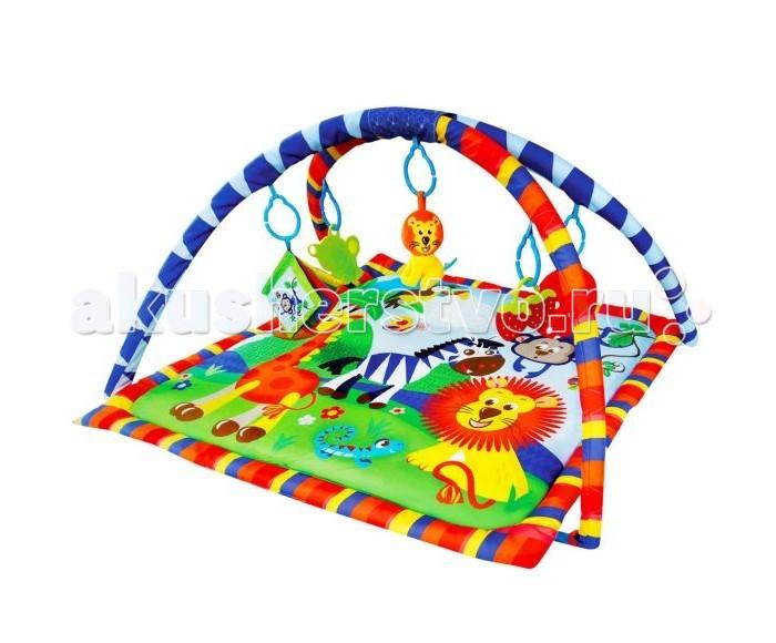 Развивающий коврик Shantou Gepai Веселое сафари 939312Веселое сафари 939312Развивающий коврик Shantou Gepai Веселое сафари 939312 на котором, можно играть, в трёх положениях: на спинке, на животике или сидя.   Малышу будет интересно тянутся за развивающими игрушками, с помощью которых он будет изучать мир, а также смотреться в безопасное зеркальце и развивать пространственное воображение.   В комплект входят: 5 развивающих игрушек, 3 положения для игры.  Размер коврика: 84 см<br>