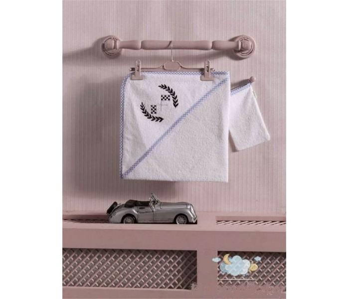 Kidboo Комплект полотенце-уголок + варежка Lets Race