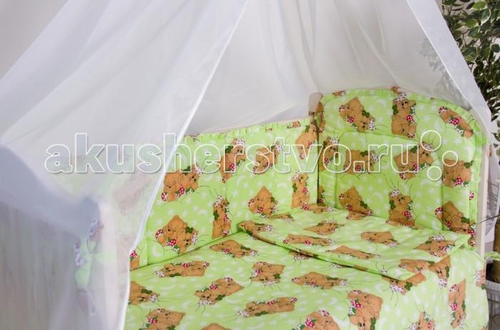 Бампер для кроватки Мой Ангелочек Мишки в облакахМишки в облакахБорт в кроватку Мишки в облаках. Бампер в кроватку защитит малыша, пока он маленький. И послужит отличным украшением детской кроватки.  Состав: Борт 54х60 см - 1 ед; 40х60 см - 1 ед; 40х120 см - 2 ед   Характеристики: Ткань: бязь Люкс российского производства Состав ткани: 100%  хлопок Плотность ткани: 120-125 гр/м2 Наполнитель: термофайбер Состав наполнителя: 100% п/э Плотность наполнителя: 550 гр/м2 Декоративные элементы: на бортах рюши Упаковка: сумка - чемодан<br>