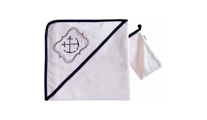 Kidboo Комплект полотенце-уголок + варежка Blue Ocean
