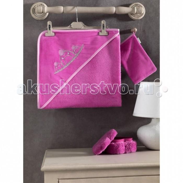 Kidboo Комплект полотенце-уголок + варежка Little Princess