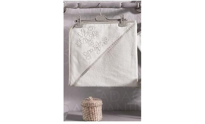 Kidboo Комплект полотенце-уголок + варежка Valentine Saten Vanilla