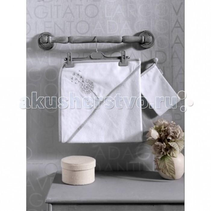 Kidboo Комплект полотенце-уголок + варежка Blossom Saten Vanilla