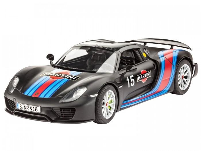 Конструктор Revell Автомобиль Porsche 918 Spyder Weissach Sport Version (120 делатей)Автомобиль Porsche 918 Spyder Weissach Sport Version (120 делатей)Легендарный Порше 918 от американского бренда Revell - это в точности воспроизведенная модель, состоящая из множества продуманных деталей. Восьмицилиндровый двигатель, съемная крыша, полностью воссозданные передние сиденья, детализированный интерьер с оригинальной приборной панелью, перемещающийся спойлер, подвески, воспроизведенные детально, вращающиеся колеса, тормоза - мини-копии оригинальных, хромированные детали и полный набор наклеек для автомобиля-рекордсмена. Будущему обладателю модели все детальки нужно будет соединить самостоятельно, что положительно скажется на развитии логики и мелкой моторики. Раскрасить же готовую модельку можно в совершенно любые цвета.  Внимание! Клей и краски в комплект не входят.  Основные характеристики:   Размер игрушки: 19.4 см Масштаб: 1:24 Количество деталей: 120 шт.<br>
