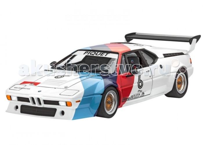 Конструктор Revell Автомобиль BMW M1 PROCARАвтомобиль BMW M1 PROCARСборная модель гоночного варианта автомобиля BMW M1. Прототип был разработан в далеком 1978 году и впервые представлен на автосалоне в Париже. От обычной версии BMW M1 он отличался усовершенствованным двигателем мощностью 460 лошадиных сил. Двигатель позволял автомобилю развивать максимальную скорость в 310 км/ч. Также было внесено множество других модификаций для соответствия правилам гонок серии Pro-Car.   В 1979 году в новом сезоне Pro-Car участвовало 20 болидов BMW M1. Они ничем не отличались друг от друга. Поэтому на трассе первым становился пилот с лучшими навыки вождения, а не технологиями. В комплект входят декали для сборки под прототипы BMW M1 пилотов Niki Lauda и Nelson Piquet в сезоне 1979 года.   Модель выполнена из пластика, поэтому для ее сборки вам потребуется специальный клей. Для покраски рекомендуется использовать акриловые или эмалевые краски Revell. Прозрачные пластиковые детали рекомендуется клеить специальным клеем Contacta Clear.    Внимание! Все вышеперечисленные расходные материалы не входят в набор и приобретаются отдельно.  Основные характеристики:   Длина модели в собранном виде: 19.1 см Масштаб: 1:24 Количество деталей: 91 шт.<br>