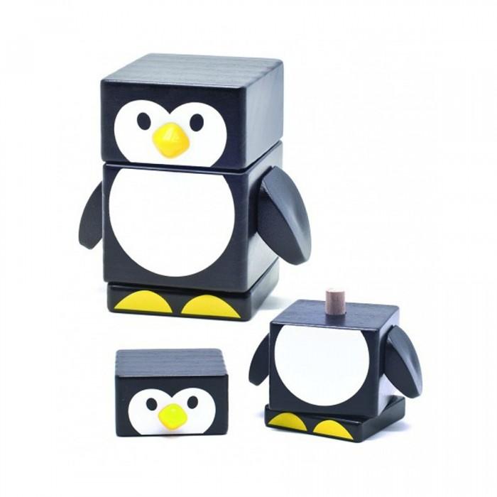 Деревянная игрушка Бомик Пирамидка ПингвинПирамидка ПингвинБомик Пирамидка Пингвин 809  Деревянная пирамидка Пингвин – очень простая, но симпатичная и интересная для малыша игрушка. Устроена пирамидка крайне просто: лапки пингвина – это основание пирамиды, к которому крепится деревянный штырь. На этот штырь и нужно посадить туловище пингвинчика и его голову. Пирамидка изготовлена из качественно обработанного дерева и не сможет поранить ребенка. С ее помощью малыш разовьет логическое мышление и сможет потренировать моторику. Такая деревянная пирамидка выглядит ярко и стильно, она может стать неплохим украшением комнаты.  Размер игрушки: 8.7 x 5.3 x 8.5 см. Размер снования: 5.5 x 5.5 x 1 см. Диаметр штырька: 1 см. Высота штырька: 5.8 см. Размер туловища: 5.5 x 5.5 x 4.4 см. Размер головы: 5.5 x 5.5 x 3 см.<br>