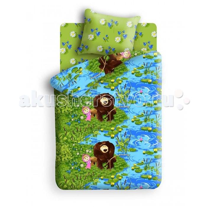 Постельное белье Непоседа Маша и Медведь На рыбалке 172790 1.5-спальное (3 предмета)