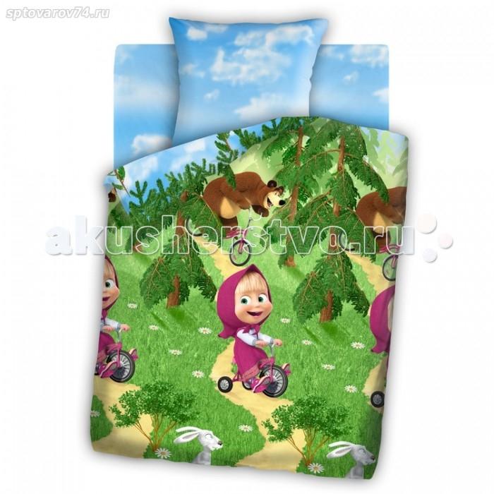 Постельное белье Непоседа Маша и Медведь Велогонка 1.5-спальное (3 предмета)Маша и Медведь Велогонка 1.5-спальное (3 предмета)Постельное белье Маша и Медведь Велогонка 1.5-спальное (3 предмета) несомненно порадует каждого ребенка!  Комплект постельного белья изготовлен из бязи, плотностью 115-120 г/м2 (100% хлопок), с использованием нелиняющих натуральных красителей. Бязь – это плотная хлопчатобумажная ткань полотняного переплетения. Она прочная и износоустойчивая, легко стирается и гладится, обладает отличной воздухонепроницаемостью.  Рекомендации по уходу: Постельное белье следует стирать при температуре 40 градусов; Наволочки и пододеяльники следует стирать вывернутыми на изнаночную сторону; Отжим в режиме 600 об/мин.; Гладить при низкой и средней температуре; Не использовать отбеливатели.  В комплекте: Пододеяльник 143&#215;215 см — 1 шт. Простынь 150&#215;214 см — 1 шт. Наволочка 70&#215;70 см — 1 шт.<br>