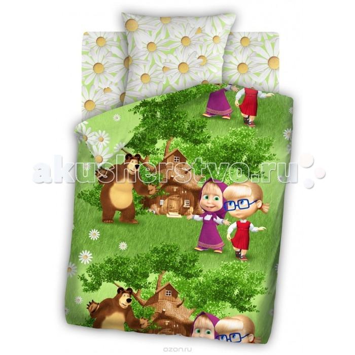 Постельное белье Непоседа Маша и Медведь Двое на одного 1.5-спальное (3 предмета)Маша и Медведь Двое на одного 1.5-спальное (3 предмета)Постельное белье Маша и Медведь Двое на одного 1.5-спальное (3 предмета) несомненно порадует каждого ребенка!  Комплект постельного белья изготовлен из бязи, плотностью 115-120 г/м2 (100% хлопок), с использованием нелиняющих натуральных красителей. Бязь – это плотная хлопчатобумажная ткань полотняного переплетения. Она прочная и износоустойчивая, легко стирается и гладится, обладает отличной воздухонепроницаемостью.  Рекомендации по уходу: Постельное белье следует стирать при температуре 40 градусов; Наволочки и пододеяльники следует стирать вывернутыми на изнаночную сторону; Отжим в режиме 600 об/мин.; Гладить при низкой и средней температуре; Не использовать отбеливатели.  В комплекте: Пододеяльник 143&#215;215 см — 1 шт. Простынь 150&#215;214 см — 1 шт. Наволочка 70&#215;70 см — 1 шт.<br>