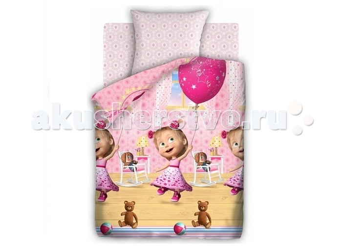 Постельное белье Непоседа Маша и Медведь День рождения 1.5-спальное (3 предмета)Маша и Медведь День рождения 1.5-спальное (3 предмета)Постельное белье Маша и Медведь День рождения 1.5-спальное (3 предмета) несомненно порадует каждого ребенка!  Комплект постельного белья изготовлен из бязи, плотностью 115-120 г/м2 (100% хлопок), с использованием нелиняющих натуральных красителей. Бязь – это плотная хлопчатобумажная ткань полотняного переплетения. Она прочная и износоустойчивая, легко стирается и гладится, обладает отличной воздухонепроницаемостью.  Рекомендации по уходу: Постельное белье следует стирать при температуре 40 градусов; Наволочки и пододеяльники следует стирать вывернутыми на изнаночную сторону; Отжим в режиме 600 об/мин.; Гладить при низкой и средней температуре; Не использовать отбеливатели.  В комплекте: Пододеяльник 143&#215;215 см — 1 шт. Простынь 150&#215;214 см — 1 шт. Наволочка 70&#215;70 см — 1 шт.<br>