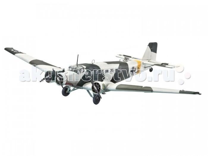 Конструктор Revell Набор Самолет Транспортный Трехмоторный Юнкерс Ю52 (56 деталей)Набор Самолет Транспортный Трехмоторный Юнкерс Ю52 (56 деталей)Самолет Юнкерс JU52 производился с 1932 года и до окончания Второй мировой войны — до 1945 года. За все время было произведено более 5000 самолетов. Наиболее активно использовался также силами Германии во время гражданской войны в Испании. Состоял на вооружении Швейцарии вплоть до конца 80-х годов. Набор от знаменитого американского бренда Revell содержит все необходимое для создания собственной точной копии реальной техники: кисточку, клей и краски основных цветов.  Основные характеристики:   Размер упаковки: 33 х 5 х 31.5 см Длина собранной модели: 13.2 см Размах крыльев собранной модели: 20.2 см Масштаб: 1:144 Количество деталей: 56 шт.<br>