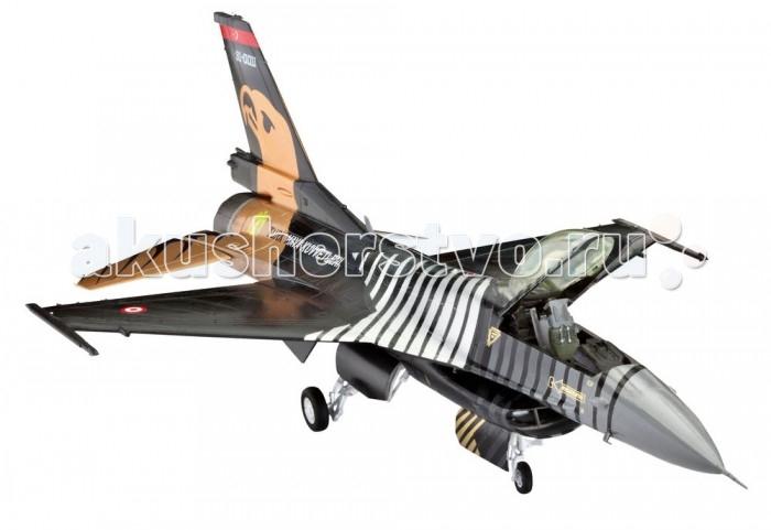 Конструктор Revell Самолет F-16 C SOLO TURK (126 деталей)Самолет F-16 C SOLO TURK (126 деталей)В данный подарочный набор от американской компании Revell входят не только детали для сборки, но и клей с красками, а значит, вам не придется покупать их отдельно. F-16 – один из самых успешных и универсальных истребителей в НАТО и имеет широкую сферу применения. Он оснащен мощным двигателем и считается одним из самых распространенных истребителей четвертого поколения. Первый полет этот самолет совершил в середине 70-х годов. Модель для сборки практически в точности повторяет контуры прототипа.  Основные характеристики:   Размах крыльев: 14 см Длина модели: 21.3 см Масштаб: 1:72 Количество деталей: 126 шт.<br>