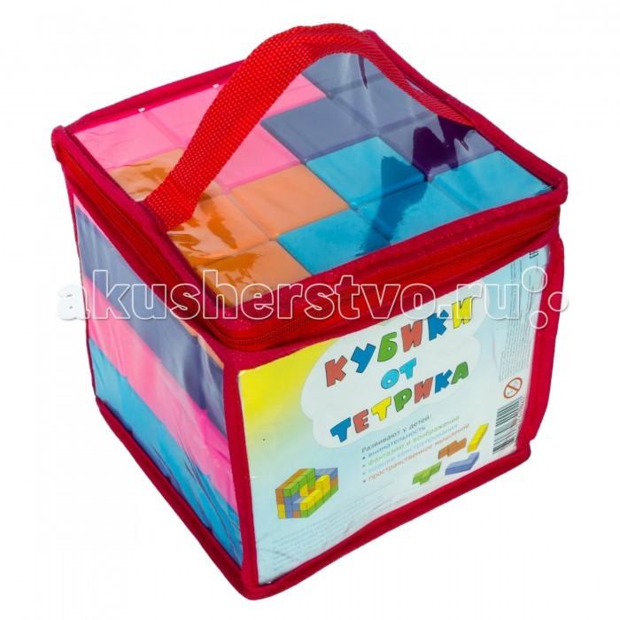 Развивающая игрушка Игрушки от Тетрика Набор №2 Кубики от ТетрикаНабор №2 Кубики от ТетрикаКубики от Тетрика - это не обычные кубики, а Тетрамино (известные как фигуры Тетриса), из которых можно собирать куб (16х16х16см) и различные фигуры, выполняя задания из инструкции, а можно дать волю своей фантазии и построить высокую башню, дом, гараж, крепость.   Задания игры «Кубики от Тетрика» разделены на 5 уровней сложности, для того чтобы с одной стороны не было скучно - «Это слишком просто!», а с другой не отбить охоту играть - «Это слишком сложно!». А кроме выполнения заданий из инструкции можно просто построить башню, которая за счет ровных граней не будет падать   «Кубики от Тетрика» рекомендуют психологи для развития у детей: логики сенсорики внимательности фантазии и воображения навыков конструирования пространственного мышления перцептивного моделирования аналитическую и холистическую стратегии мышления  Кубики от Тетрика - это развивающие игрушки для детей любого возраста. И не только для детей.  В Набор №1 входят 16 деталей 4-х цветов: оранжевого, голубого, фиолетового, розового.<br>