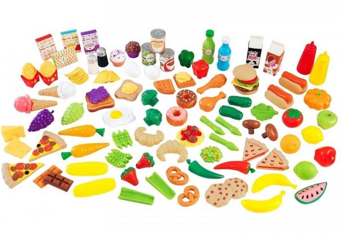 KidKraft Набор еды Вкусное удовольствие 115 элементовНабор еды Вкусное удовольствие 115 элементовKidKraft Набор еды Вкусное удовольствие, 115 элементов.  Kidkraft Игрушечная еда Вкусное удовольствие состоит из 115 единиц различных продуктов питания. Вашей маленькой хозяйке понравится такое разнообразие и сделает ее игру максимально интересной. Готовим вместе с мамой, готовим как мама!<br>