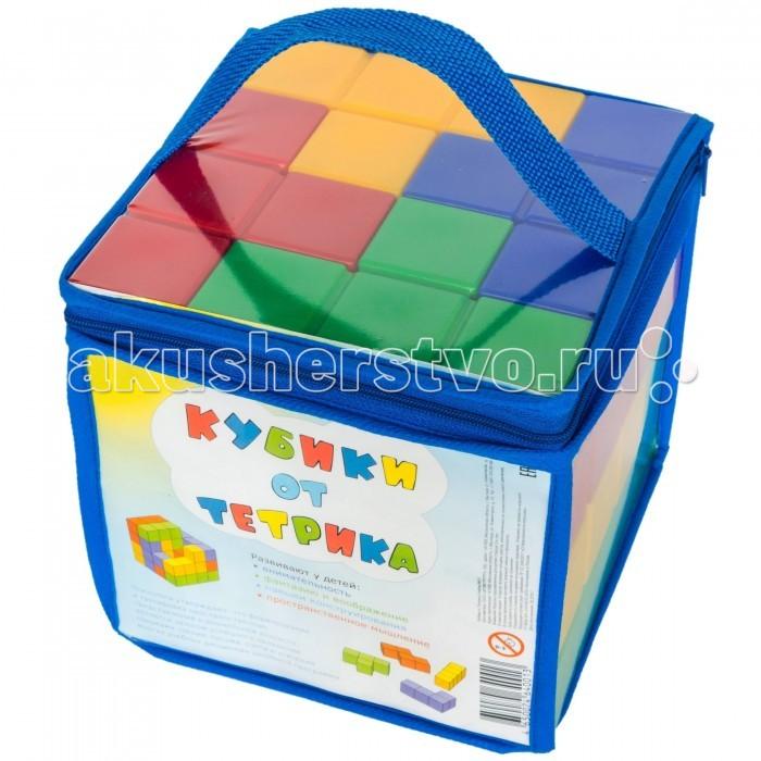 Развивающая игрушка Игрушки от Тетрика Набор №1 Кубики от ТетрикаНабор №1 Кубики от ТетрикаКубики от Тетрика - это не обычные кубики, а Тетрамино (известные как фигуры Тетриса), из которых можно собирать куб (16х16х16см) и различные фигуры, выполняя задания из инструкции, а можно дать волю своей фантазии и построить высокую башню, дом, гараж, крепость.   Задания игры «Кубики от Тетрика» разделены на 5 уровней сложности, для того чтобы с одной стороны не было скучно - «Это слишком просто!», а с другой не отбить охоту играть - «Это слишком сложно!». А кроме выполнения заданий из инструкции можно просто построить башню, которая за счет ровных граней не будет падать   «Кубики от Тетрика» рекомендуют психологи для развития у детей: логики сенсорики внимательности фантазии и воображения навыков конструирования пространственного мышления перцептивного моделирования аналитическую и холистическую стратегии мышления  Кубики от Тетрика - это развивающие игрушки для детей любого возраста. И не только для детей.  В Набор №1 входят 16 деталей 4-х цветов: красного, желтого, синего, зеленого.<br>