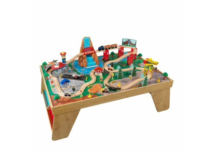 KidKraft ������� ����� �� ������� Waterfall Station Train Set & Table In Natural