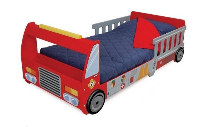Детская кроватка KidKraft Пожарная машинаПожарная машинаKidKraft Детская кровать Пожарная машина.  Детская кровать Пожарная машина KidKraft Переход от колыбели к кровати является проблемой для каждого родителя.  Наряду с твердой и безопасной конструкцией, большая и красивая кровать для вашего ребенка в виде пожарной машины будет безболезненной и приятной новинкой!  Дети очень любят спать в таких кроватях, они чувствуют себя гонщиками ... В таких кроватях комфортно и уютно.  Характеристики кровати Пожарная машина: Достаточно низкая, чтобы каждый ребенок без проблем мог залазить и слазить с кровати Ножки в форме колес Сделана из дерева Надежный и элегантный дизайн Подушки, матрасы и постельные принадлежности не входят и приобретаются отдельно.<br>