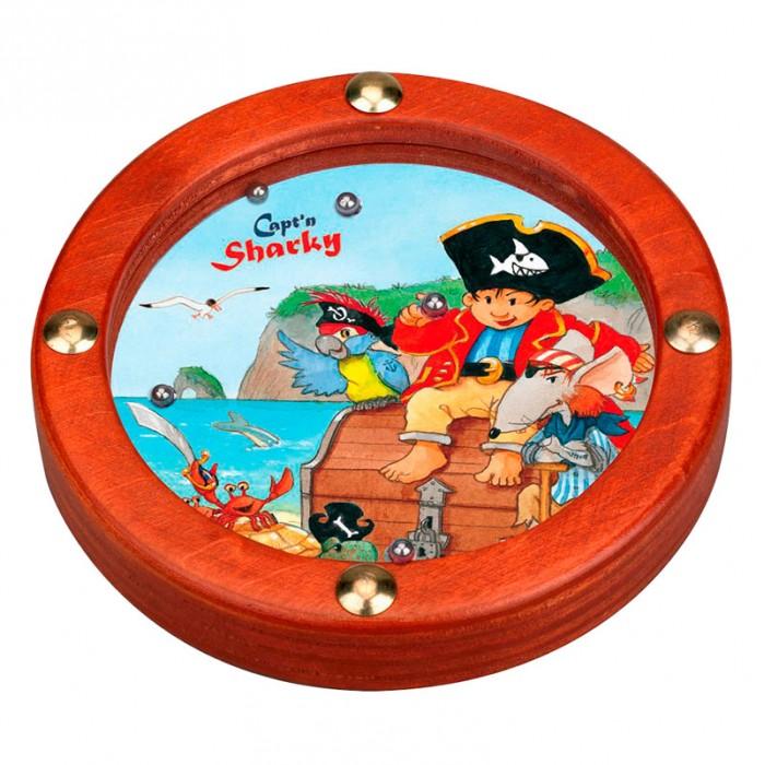 Spiegelburg Игра Captn Sharky 21625Игра Captn Sharky 21625Spiegelburg Игра Captn Sharky  игра-головоломка из коллекции Captn Sharky.  Смысл заключается в том, чтобы загнать все металлические шарики в отверстия.  Отлично тренирует ловкость и смекалку!<br>