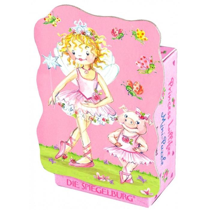 Spiegelburg Мини-пазл Prinzessin Lillifee 20115Мини-пазл Prinzessin Lillifee 20115Spiegelburg Мини-пазл Prinzessin Lillifee 20115 красочный мини-пазл извилистой формы из 40 деталей.   На картинке в розовых тонах изображена прекрасная принцесса Лиллифея в балетной пачке и две мышки-балерины, сидящие на качелях в окружении цветов и бабочек.   Яркий сказочный пазл станет отличным подарком для маленькой девочки.  Пазлы развивают мелкую моторику, внимание, сообразительность, зрительную и двигательную память, логическое и творческое мышление.<br>