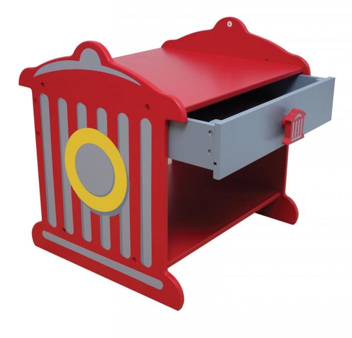 KidKraft Прикроватный столик Пожарная станцияПрикроватный столик Пожарная станцияKidKraft Прикроватный столик Пожарная станция.  Имеется дополнительное место для хранения чуть ниже ящика. Идеальный прикроватный аксессуар для юного пожарника. Рекомендуемый Возраст от 3 - 8 лет.<br>