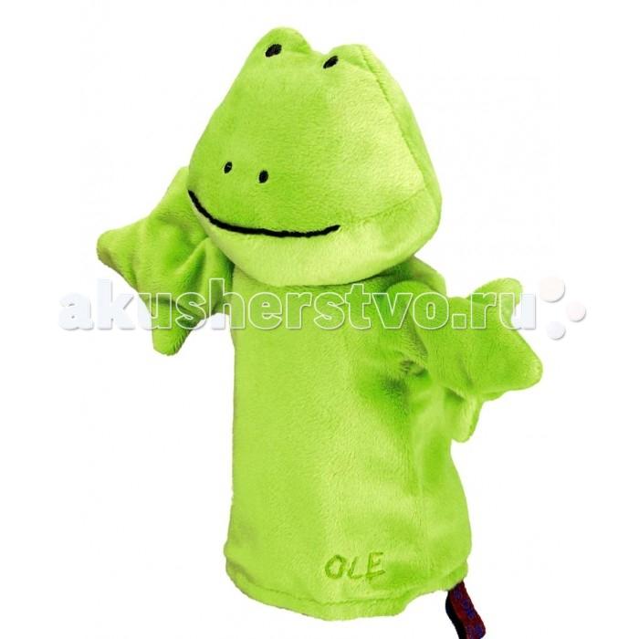 Spiegelburg Кукла-перчатка Ole 25200Кукла-перчатка Ole 25200Spiegelburg Кукла-перчатка Ole 25200 - это отличный способ развеселить Вашего ребенка!    Сделанная в виде зеленого лягушонка Оле она, непременно, заинтересует и рассмешит детей! Куклу-перчатку могут одевать взрослые, чтобы поиграть с детьми, или сами дети, чтобы играть друг с другом в кукольный театр, придумывать и устраивать целые представления!  Играя с куклой-перчаткой Ole, дети будут развивать фантазию и получат море положительных эмоций!  Компания гарантирует высочайшее качество продукции и соответствие европейским стандартам.<br>