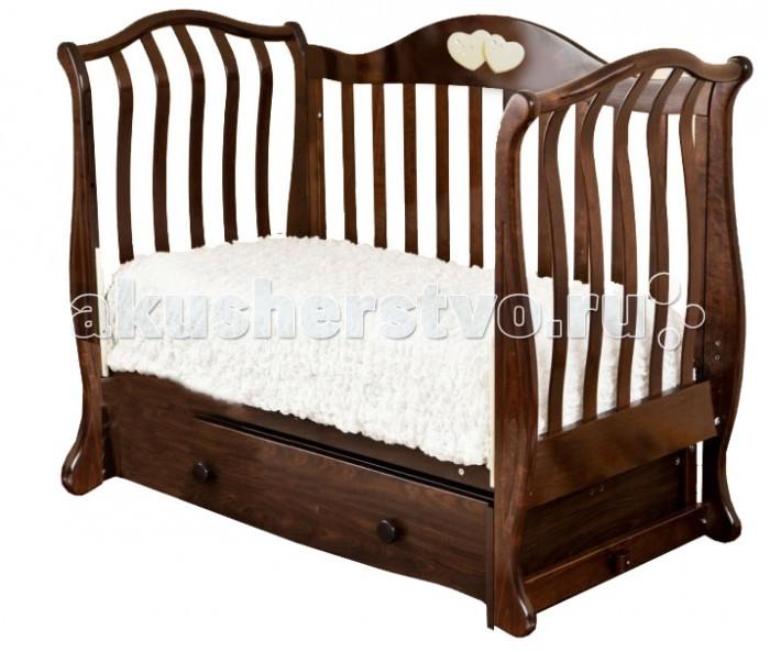 Детская кроватка Можга (Красная Звезда) Аэлита С-888 Сердечки (поперечный маятник)