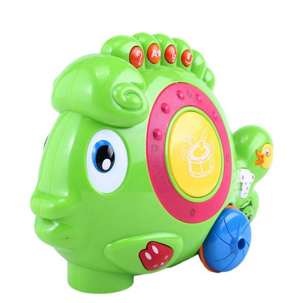 Каталка-игрушка Yobee РыбкаРыбкаУвлекательная музыкальная игрушка-каталка в виде Рыбки , заинтересует малыша. Ее можно не просто возить за собой, но и нажимать на множество кнопочек, которые издают различные звуки. На боку у рыбки есть место, где можно побарабанить маленькими ручками, это всегда нравится детям.   Есть возможность выключить звук, тогда Рыбка будет безмолвной, но все еще с радостью передвигаться за малышом. Ее яркая расцветка привлечет внимание ребенка, благодаря этому она всегда будет в поле зрения.   Работает от батареек (в комплект не входят).  Размеры игрушки: 10 х 25 х 8,5 см.<br>