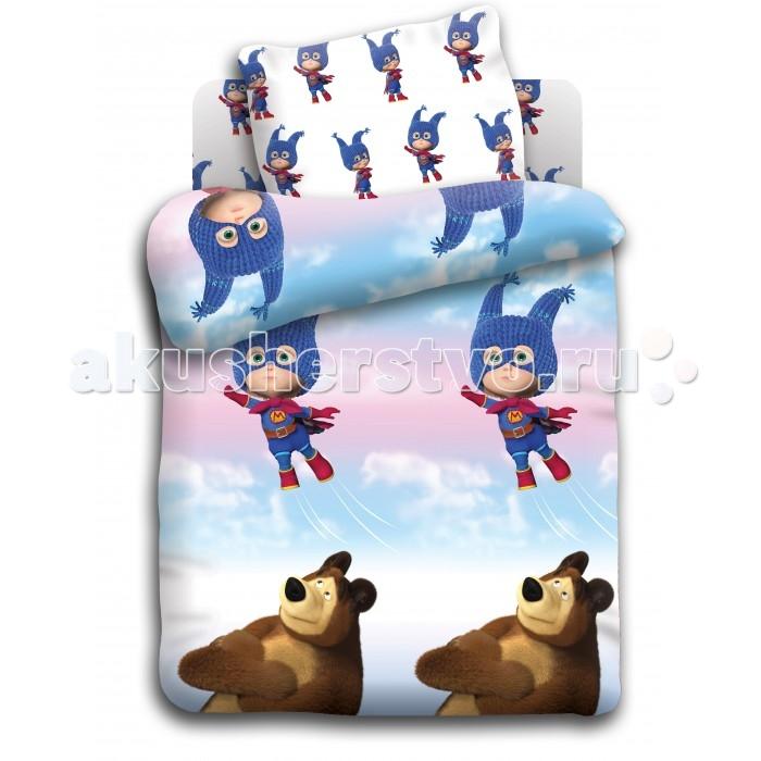 Постельное белье Непоседа Маша и Медведь baby Маша супергерой (3 предмета)