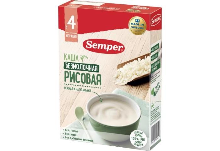 Semper Безмолочная рисовая каша с 4 мес. 180 г