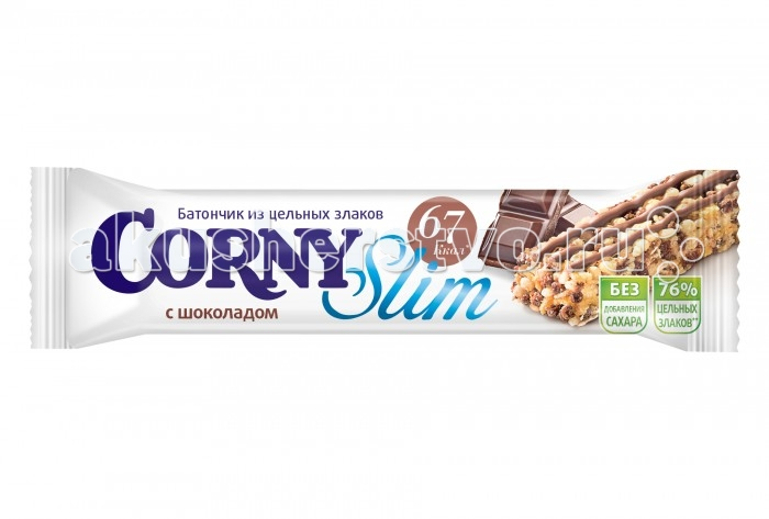 Corny Злаковый батончик Slim с шоколадом 20 г