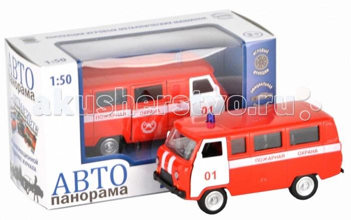 Автопанорама Инерционная машина УАЗ-452 Пожарная охрана 1:50