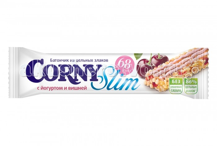 Corny Злаковый батончик Slim с йогуртом и вишней 20 г