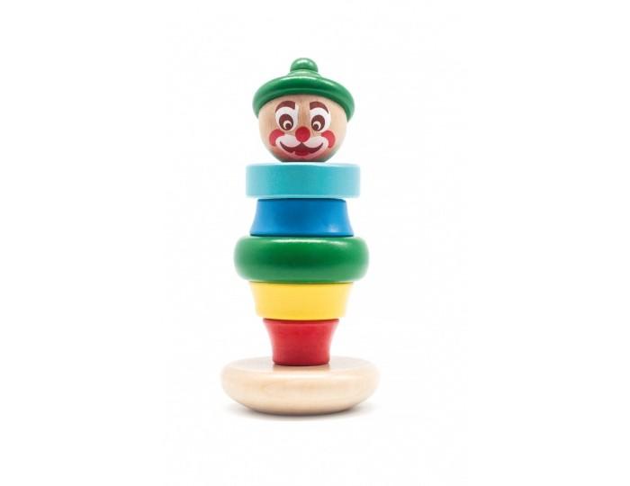 Деревянная игрушка Бомик Клоун пирамидка 3Клоун пирамидка 3Бомик Клоун пирамидка 3 815  Пирамидка Клоун состоит из 5 колец разных по форме и размеру, которые можно нанизать в произвольном порядке на специальный колышек с круглым основанием. Необычной и задорной игрушку делает голова, расписанная под клоуна в берете, которая венчает разноцветную конструкцию, выполненную из обработанного дерева.  Диаметр основания: 7 см. Высота штыря: 10 см. Диаметр самого большого кольца: 6 см. Диаметр самого маленького кольца: 2.5-3.5 см.<br>