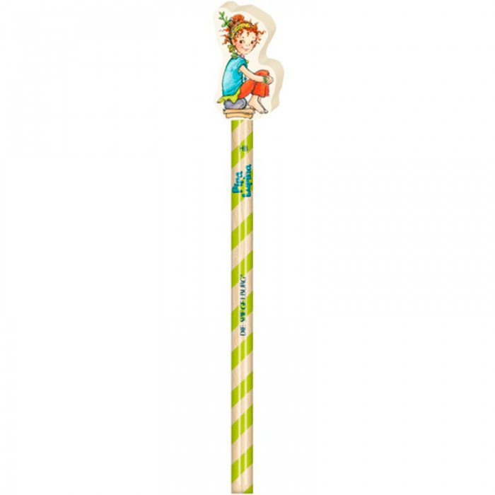 Spiegelburg Карандаш Pipa Lupina 11750Карандаш Pipa Lupina 11750Spiegelburg Карандаш Pipa Lupina 11750  Мы рады представить вам замечательный детский карандаш, который приведет в восторг вашу девочку.  В верхней части карандаша вы увидите девочку Пипу Люпину, которая сделана из резины. Эту насадку можно снять и использовать в качестве ластика. Сам карандаш окрашен в белую и зеленую полоску. Он очень красивый.  Если ваша девочка любит рисовать, то ей обязательно понравится этот карандаш. Рисуя, она будет тренировать мелкую моторику рук и фантазию, развивать свои творческие и художественные способности, усидчивость и внимательность.<br>